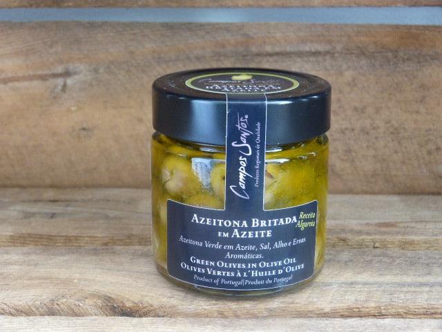 Olives vertes britadas