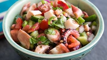 Salade de Poulpe –  Salada de polvo