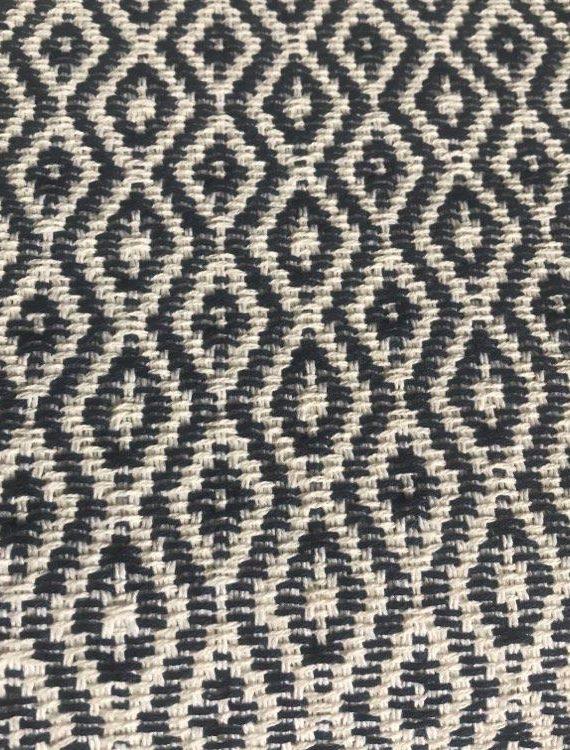 Plaid coton écru et marine